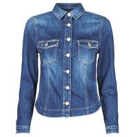vaatteet Naiset Farkkutakki Le Temps des Cerises LILLY Sininen