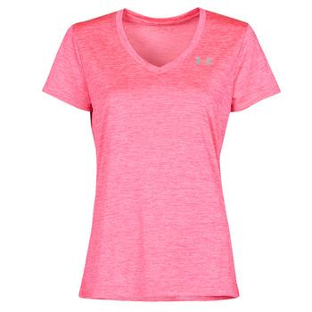 vaatteet Naiset Lyhythihainen t-paita Under Armour TECH SSV Vaaleanpunainen
