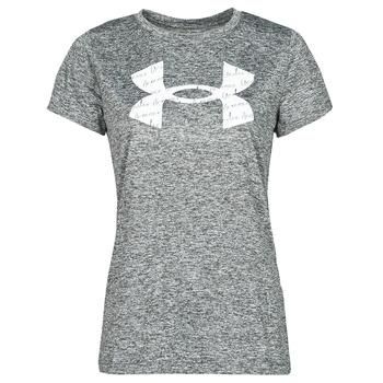 vaatteet Naiset Lyhythihainen t-paita Under Armour TECH TWIST BL SSC Harmaa