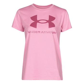 vaatteet Naiset Lyhythihainen t-paita Under Armour LIVE SPORTSTYLE GRAPHIC SSC Vaaleanpunainen