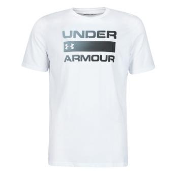 vaatteet Miehet Lyhythihainen t-paita Under Armour UA TEAM ISSUE WORDMARK SS Valkoinen