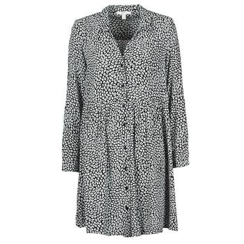 vaatteet Naiset Pitkä mekko Esprit ROBE PRINT Musta