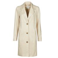 vaatteet Naiset Paksu takki Esprit SUEDE COAT Beige