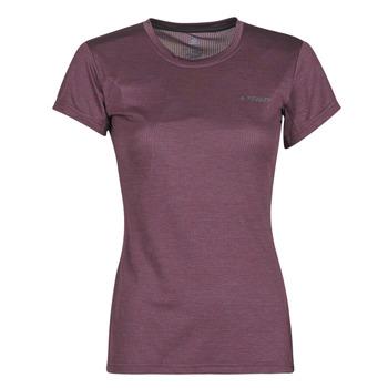vaatteet Naiset Lyhythihainen t-paita adidas Performance W Tivid Tee Violetti