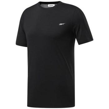 vaatteet Miehet Lyhythihainen t-paita Reebok Sport Wor Comm Tech Tee Mustat