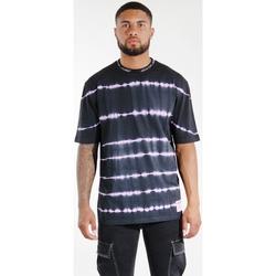 vaatteet Miehet T-paidat & Poolot Sixth June T-shirt  Tie & Dye noir/violet