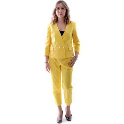 vaatteet Naiset Puvut Fracomina FR20SP090 Keltainen