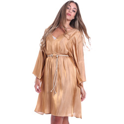 vaatteet Naiset Lyhyt mekko Fracomina FR20SMELISABETH Kulta