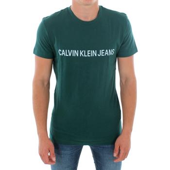 vaatteet Miehet Lyhythihainen t-paita Calvin Klein Jeans J30J307856 372 GREEN Verde