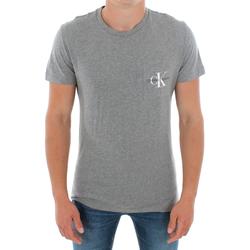 vaatteet Miehet Lyhythihainen t-paita Calvin Klein Jeans J30J311023 039 LIGHT GREY MELANGE Gris