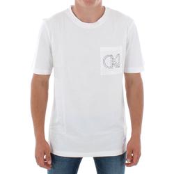 vaatteet Miehet Lyhythihainen t-paita Calvin Klein Jeans J30J309612 112 OFF WHITE Blanco
