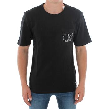 vaatteet Miehet Lyhythihainen t-paita Calvin Klein Jeans J30J309612 099 BLACK Negro
