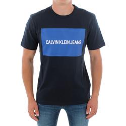 vaatteet Miehet Lyhythihainen t-paita Calvin Klein Jeans J30J307850 904 NAVY Azul marino