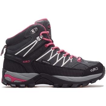 kengät Naiset Korkeavartiset tennarit Cmp Rigel Mid Wmn WP Harmaat, Vaaleanpunaiset, Grafiitin väriset