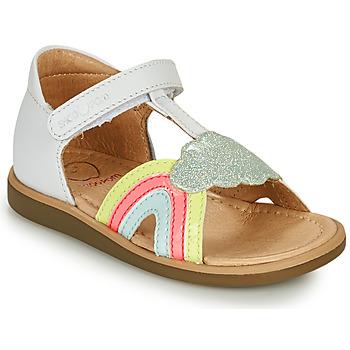 kengät Tytöt Sandaalit ja avokkaat Shoo Pom TITY RAINBOW Valkoinen