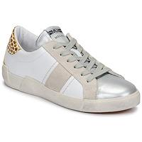 kengät Naiset Matalavartiset tennarit Meline NK1381 Valkoinen / Beige