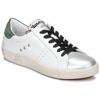 kengät Naiset Matalavartiset tennarit Meline NKC1392 Valkoinen / Vihreä