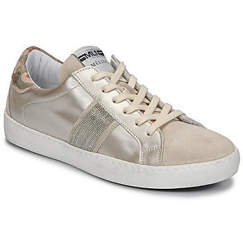 kengät Naiset Matalavartiset tennarit Meline KUC1414 Champagne