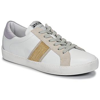 kengät Naiset Matalavartiset tennarit Meline KUC1414 Valkoinen / Kulta