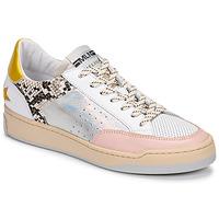 kengät Naiset Matalavartiset tennarit Meline BZ180 Valkoinen / Vaaleanpunainen