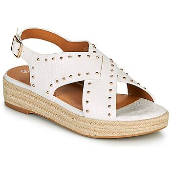 kengät Naiset Sandaalit ja avokkaat The Divine Factory LS1802J Valkoinen