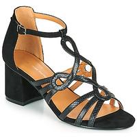 kengät Naiset Sandaalit ja avokkaat The Divine Factory QL4327 Musta