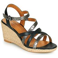 kengät Naiset Sandaalit ja avokkaat The Divine Factory QL4354 Musta
