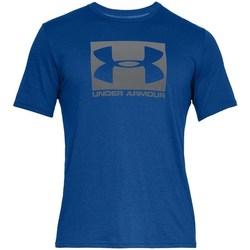 vaatteet Miehet Lyhythihainen t-paita Under Armour Boxed Sportstyle Vaaleansiniset