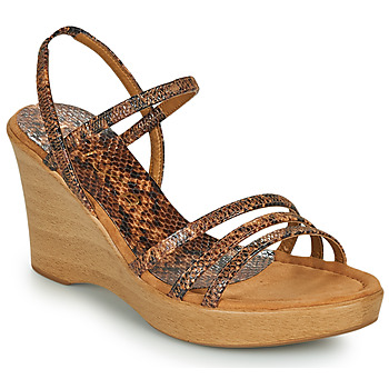 kengät Naiset Sandaalit ja avokkaat Unisa RENERA Ruskea / Python