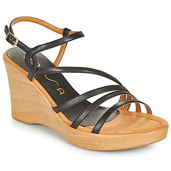kengät Naiset Sandaalit ja avokkaat Unisa RABAL Musta