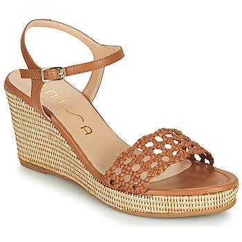 kengät Naiset Sandaalit ja avokkaat Unisa LOBI Kamelinruskea