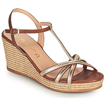 kengät Naiset Sandaalit ja avokkaat Unisa LLINAR Kulta