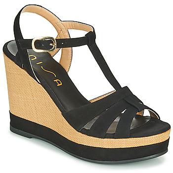 kengät Naiset Sandaalit ja avokkaat Unisa MANACOR Musta