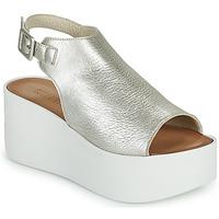 kengät Naiset Sandaalit ja avokkaat Sweet Lemon PYTON Hopea
