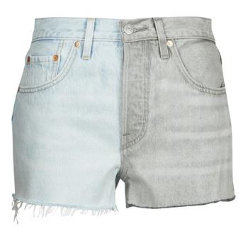 vaatteet Naiset Shortsit / Bermuda-shortsit Levi's ICE BLOCK Blue / Grey