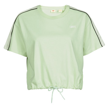 vaatteet Naiset Lyhythihainen t-paita Levi's GINGER NYLON PIECED TEE BOK CHOY, TOFU & CAVIAR White