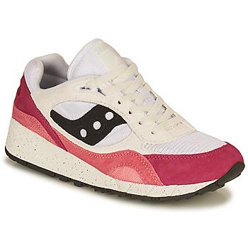 kengät Naiset Matalavartiset tennarit Saucony SHADOW 6000 Valkoinen / Vaaleanpunainen