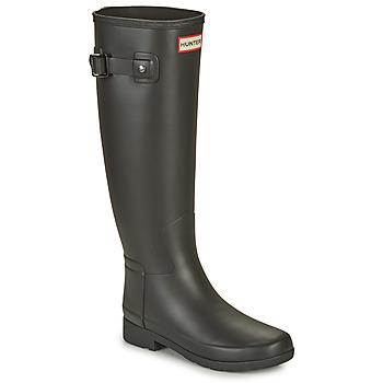 kengät Naiset Kumisaappaat Hunter ORIGINAL REFINED Musta
