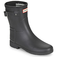 kengät Naiset Kumisaappaat Hunter ORIGINAL REFINED SHORT Musta