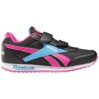 kengät Lapset Matalavartiset tennarit Reebok Sport Royal CL Jogger Mustat,Vaaleansiniset,Vaaleanpunaiset