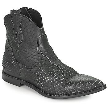 kengät Naiset Bootsit Mimmu PYTHON INTAG Musta