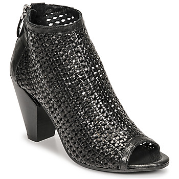 kengät Naiset Nilkkurit Mimmu INTRECCIO-NERO-PARKER Musta