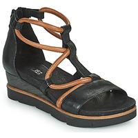 kengät Naiset Sandaalit ja avokkaat Mjus TAPASITA Musta / Kamelinruskea