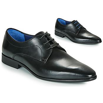 kengät Miehet Derby-kengät Azzaro VILLAGE Musta