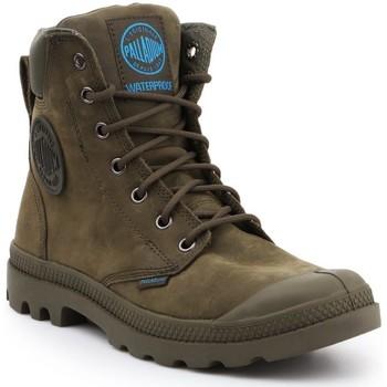 kengät Korkeavartiset tennarit Palladium Pampa Cuff WP LUX 73231309 olive green