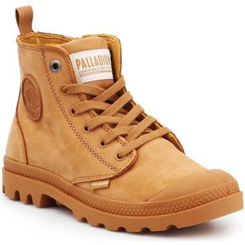 kengät Naiset Korkeavartiset tennarit Palladium Manufacture Pampa HI ZIP NBK 96440-717-M brown