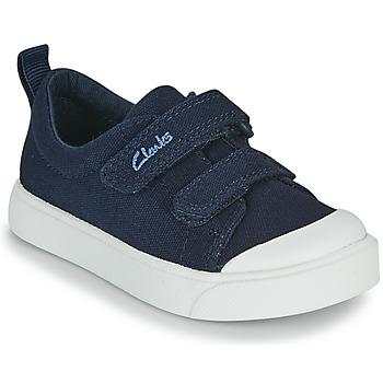 kengät Lapset Matalavartiset tennarit Clarks CITY BRIGHT T Laivastonsininen
