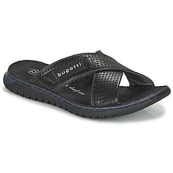 kengät Miehet Rantasandaalit Bugatti IDAHO Musta