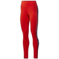 vaatteet Naiset Legginsit Reebok Sport TE Linear Logo CT L Punainen