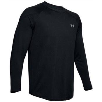 vaatteet Miehet T-paidat pitkillä hihoilla Under Armour Recover Mustat